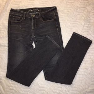 American Eagle Charcoal Skinny Jeans